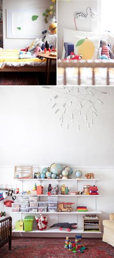 Such a fun kids room via Oh Happy Day. #laylagrayce #children