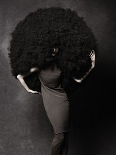 The avant garde women's and men's fashion was there to compliment the sculptural and the couture-like; two elements that are key to Gray's idea of show hair. -I wish this was my hair!