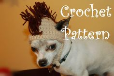 CROCHET PATTERN Mohawk Dog Hat by poshpoochdesigns on Etsy, $3.99