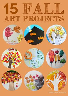 15 Fall Art Projects for Kids #fall #kidcrafts