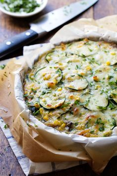 | Sweet Corn and Zucchini Pie | #zucchini #pie #corn