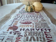 Subway Art Burlap Table Runner -- Point of View ~ * THE COUNTRY CHIC COTTAGE (DIY, Home Decor, Crafts, Farmhouse)
