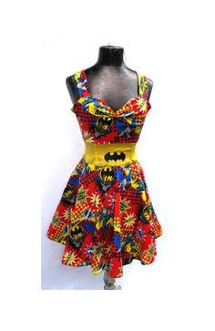 Holy Rockabilly Dress Batman -- Custom Size. $130.00, via Etsy.