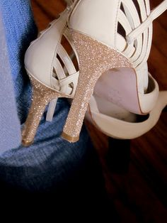 Glitter Heel DIY- Oh the things glitter can cover!