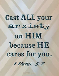 HE cares for me.