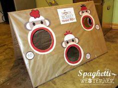 Sock Monkey Party Games | Sock Monkey Bean Bag Toss