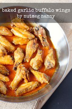 Baked Garlic Buffalo Wings