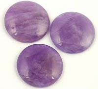 Cape Amethyst - A lighter amethyst quartz that is usually slightly more opaque than A quality Amethyst.