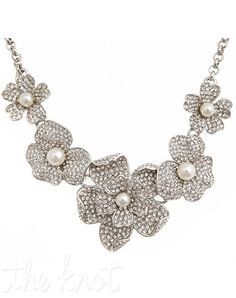 Crystal & Pearl flower necklace from Thomas Laine