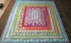 Jelly Roll Quilt & 1 1/2 strips. For a quick baby quilt