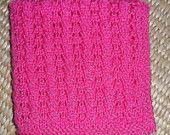 Hand Knit Rose Doll Blanket