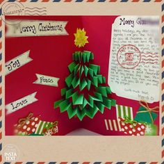 How about a tree pop-out card??? :) Easy to make, and surely fun For your sponsored child to receive! ;)