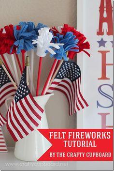 fourth, crafti cupboard, juli 4th, america, firework tutori, 4th craft, cupboards, fireworks, felt firework