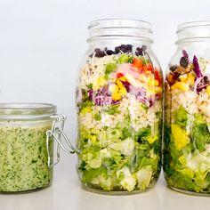Israeli Couscous Currant Salad + Creamy Sweet Basil Dressing -- Favorite T.J.'s salad recreated!