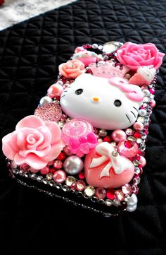 Hello Kitty Pink Kawaii Japanese Iphone 4g Bling by angeljoker67, $50.00... I am buying this!