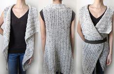 Gilet rectangulaire - 9 tailles - PDF Crochet Pattern - téléchargement immédiat
