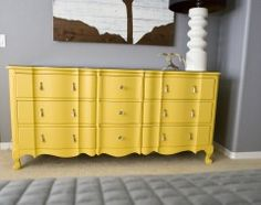 paint furniture yellow