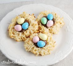 Coconut Macaroon Nests with Nutella. . . so cute for Easter!