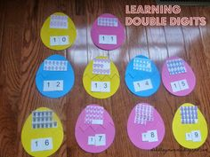 Dabblingmomma: Learning Double Digits doubl digit