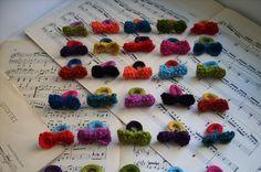 Crochet bow rings....
