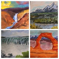 American Landmarks art curriculum - let's take a tour of American Landmarks from sea to shining sea! What's included in this art curriculum? Step-by-step how-to instructions. One book for all ages.