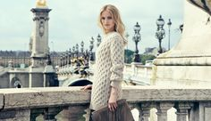 Je t'aime! Oatmeal hand-knit pullover from Michael Kors Fall 2014 is hitting the streets of Paris today with NET-A-PORTER.COM #TheChicLife