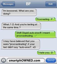 Epic autocorrect fail
