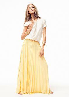 MANGO - CLOTHING - Pleated maxi-skirt