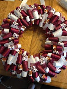 Texas A & M Ribbon Wreath!