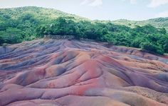 This is one of the most unusual sights in Mauritius. The phenomenon is said to have been caused by uneven cooling of the earth during volcanic activity. If you look carefully, you will see the seven colours: hues of brown, red, blue, violet, green, purple and ochre.