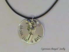 Shoot Like A Girl Necklace
