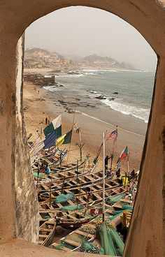 GHANA - View From Cape Coast Castle.