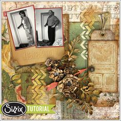 Sizzix Die Cutting Tutorial | Here & Now Layout by Jan Hobbins