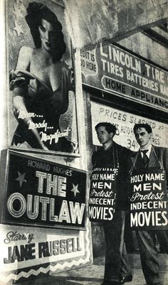 Holy Name Men Protest Indecent Movies — The Outlaw (1943) starring Jane Russell