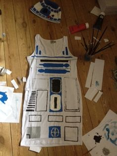 R2D2 costume progress