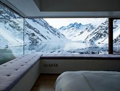 Located on the Andes mountains in Chile, the Mountain Refuge Chalet C7