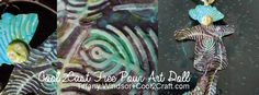 Cool2Cast Free Pour Textured Art Doll by Tiffany Windsor #diycraft #artdoll