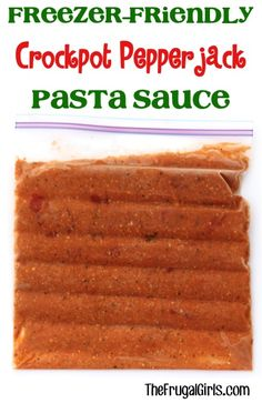 Freezer-Friendly Crockpot Pepper Jack Tomato Pasta Sauce Recipe! ~ from TheFrugalGirls.com ~ this Slow Cooker sauce is packed with flavor and SO yummy!... you've got to try this one! #slowcooker #recipes #thefrugalgirls