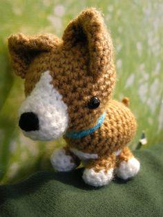 free corgi puppy amigurumi pattern
