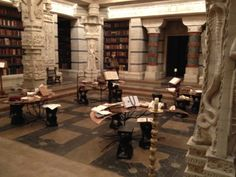 View of Book Decor books on the Beautiful Creatures movie set.