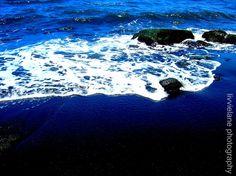 black sand beach. livvielane on etsy.
