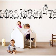 Bumoon Little Rascals Children's Wall Sticker - Full range at Nubie | Nubie - Modern Baby Boutique