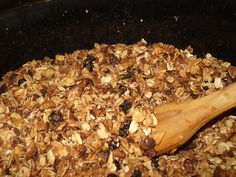 Crockpot Granola. I know so many people that have made this. I might sub some unsweetened applesauce for part of the butter and honey so it fits into my calorie goal for the day! Yum!