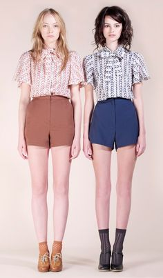 High waisted shorts with button ups