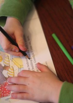 A simple sight word activity to practice spotting sight words in text and books.