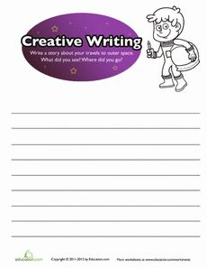 Creative Writing for Kids: Outer Space Worksheet