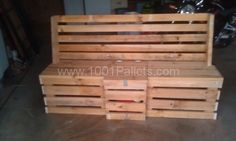 Pallet outdoor bench | 1001 Pallets