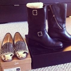Essentials for Fall, boots and loafers -- Taken with #Snapette