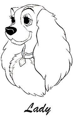 Disney Coloring Pages - Lady and the Tramp 1