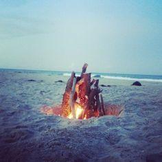Bonfire at the beach in Nags Head. #OBX #NC